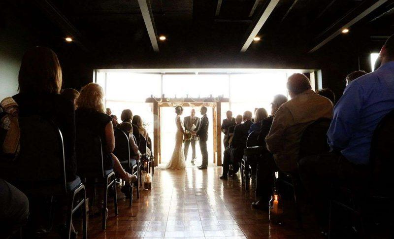 Schauer Center in Hartford, WI wedding ceremony