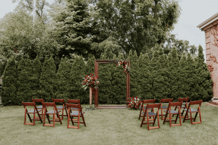 Ceremony space at Story Hill Firehouse