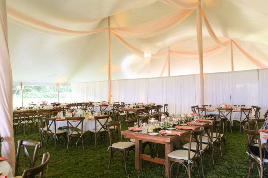Elegant tented wedding by All Star Rentals- WI