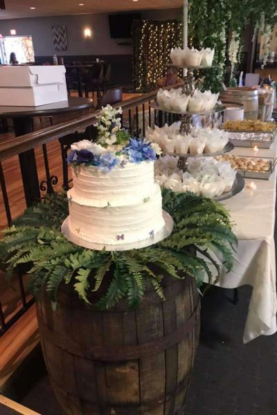 Sterling Chalet Cake Table