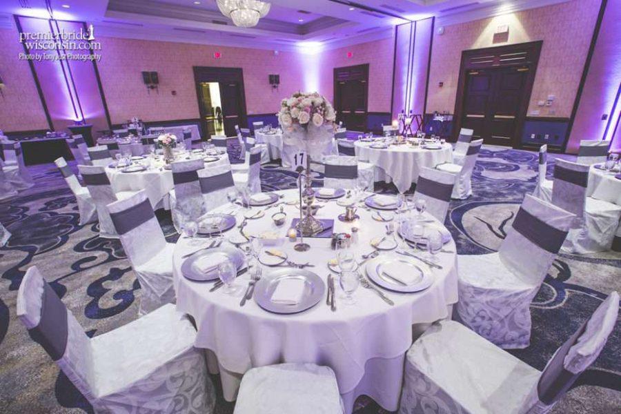 Marriott West Ballroom setup for Wedding