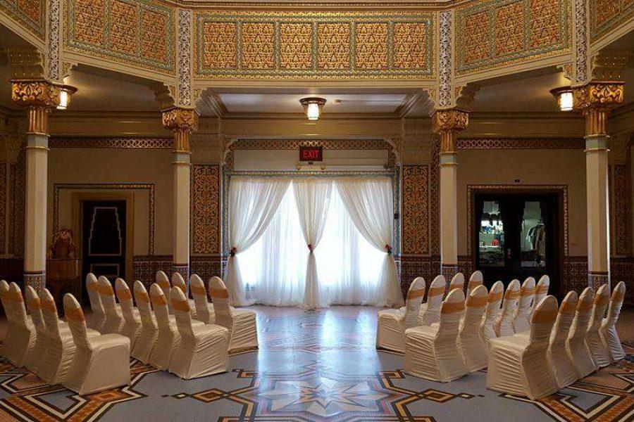 wedding ceremony at the Tripoli Shrine Center in Milwaukee