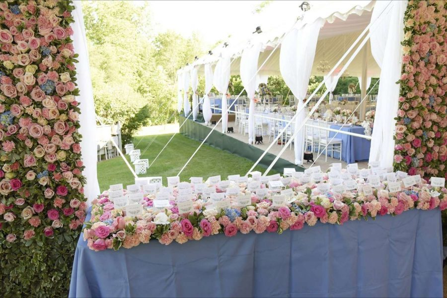 Lavish tented wedding designed by événement Event Design & Consulting