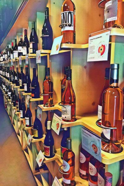 Vino Third Ward showing rows of wine