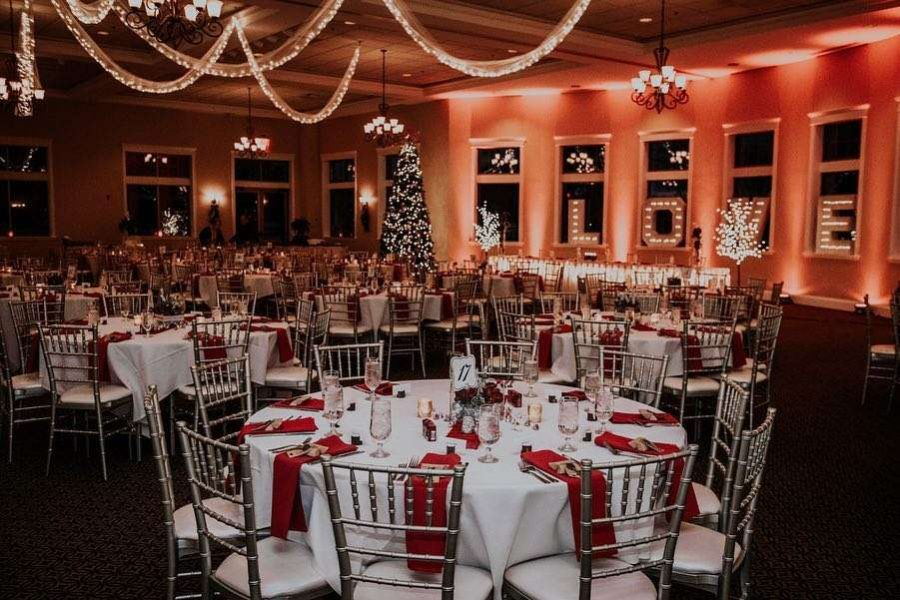 Wedding reception at Veterans Terrace