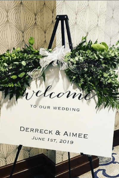 wedding welcome sign created by CMYKnot