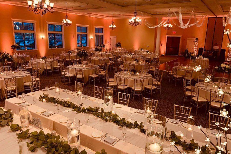 Wedding reception at Veterans Terrace at Echo Park- Romantic lighting
