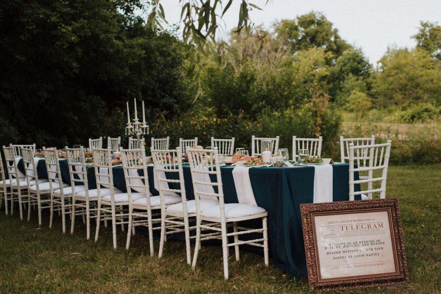 White Chiavari chairs- All Star Rentals