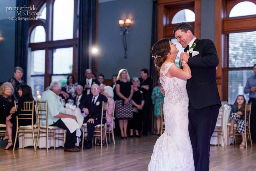First dance at a Historic Courthouse wedding reception