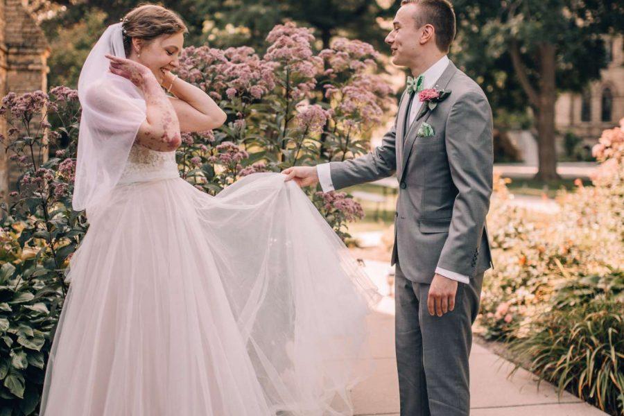 Beautiful bride at the Dekoven Center