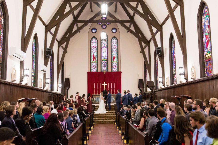 Wedding ceremony at chapel