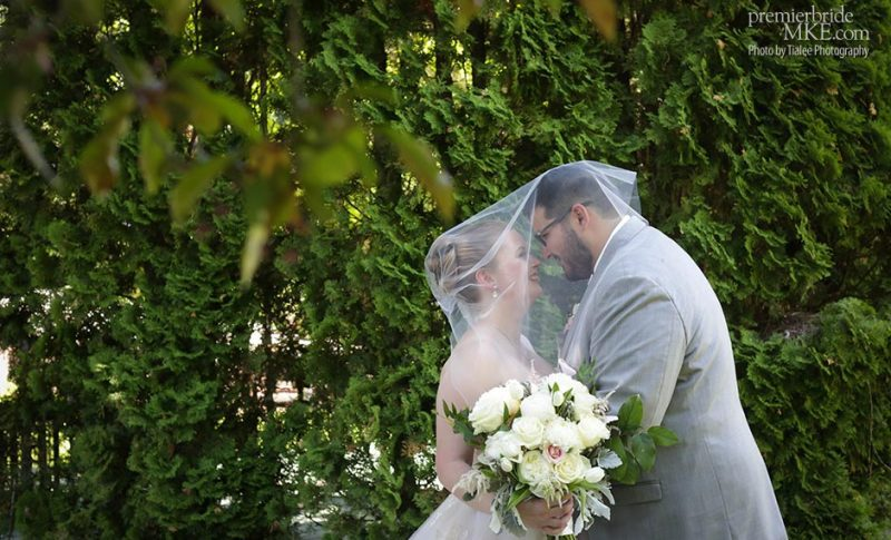 Elizabeth and John married at The Gardens Wedding Center and Tuscan Hall, Waukesha, WI