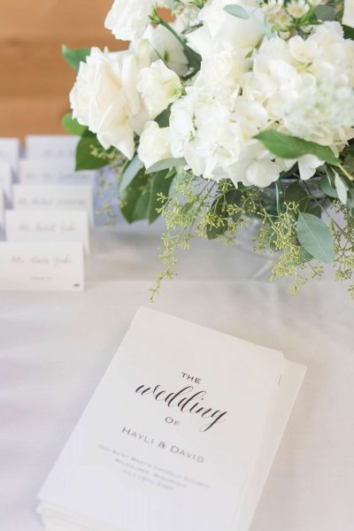 Elegant wedding programs and place cards by CMYKnot