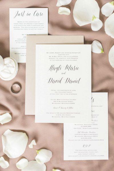 Elegant wedding invitations by CMYKnot
