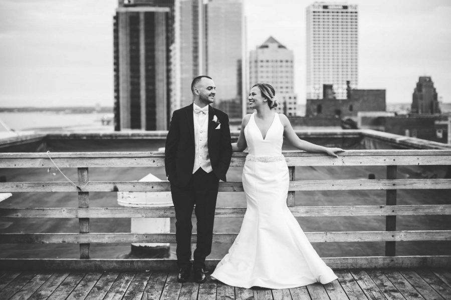 Astor Hotel- Bride and Groom-Milwaukee, WI