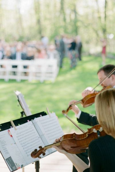 Gabriel's Horns performs for a wedding ceremony