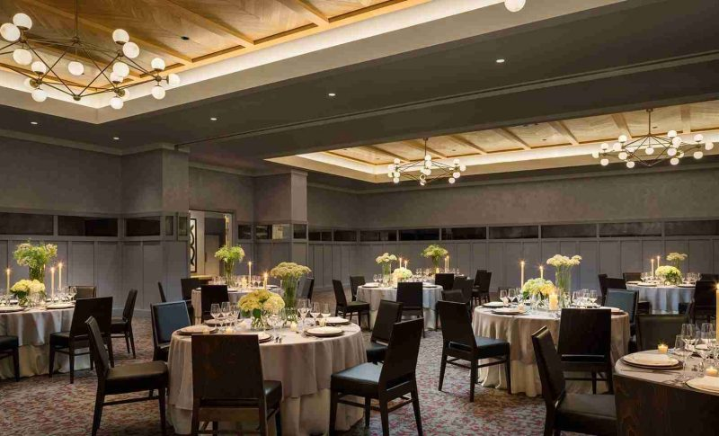 Beautiful ballroom at the Kimpton-Journeyman Hotel in Milwaukee, WI