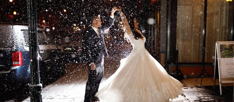 Kylie and Don Marry in Burlington in the Winter