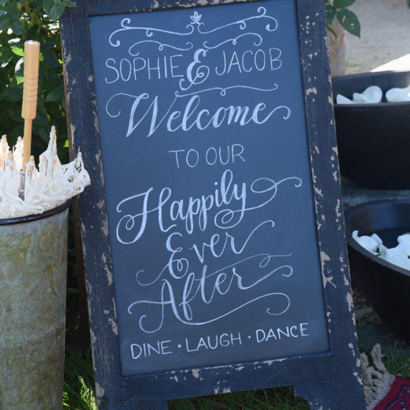 Local Wedding Resources Calligraphy Chalkboard