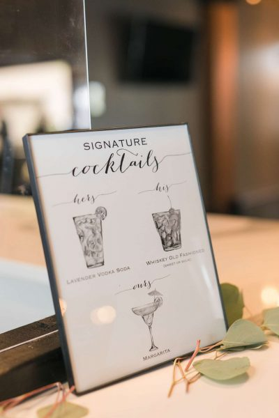 Custom made signature drink bar sign by CMYKnot