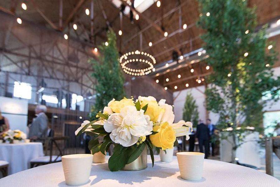 Wedding reception at the The Peck & Bushel Barn