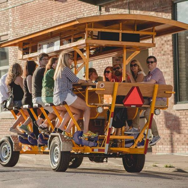 Group on The Pedal Tavern