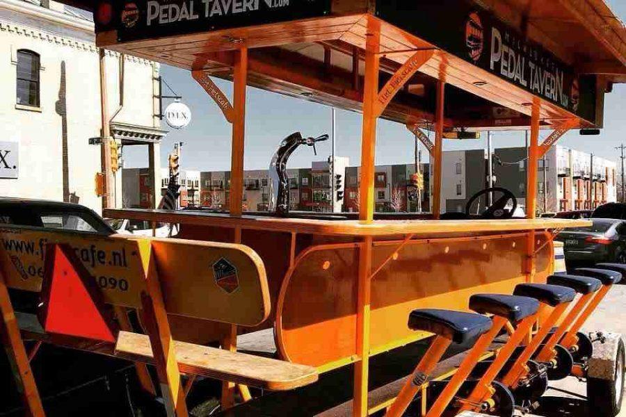 The Pedal Tavern empty