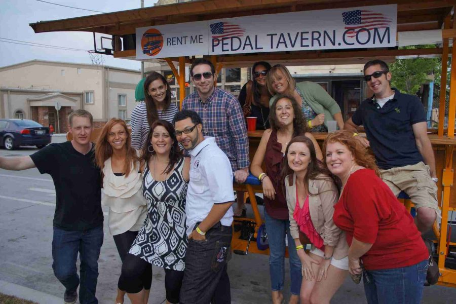 Group on Pedal Tavern