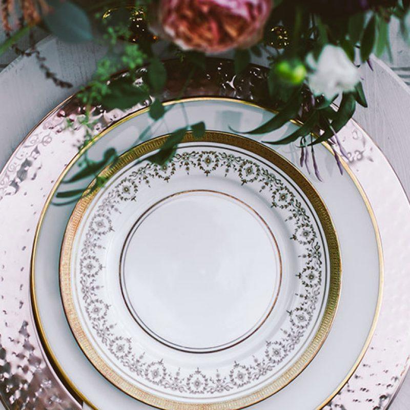 wedding rentals, plates, utensils, flatware