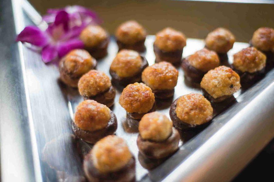 Sazama's Fine Catering showing stuffed mushrooms