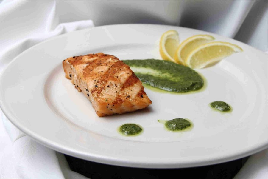 Saz's Catering Wedding plated fish dish