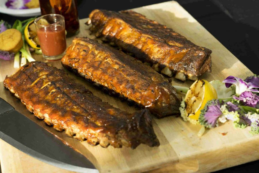 Saz's Catering showing racks of Ribs