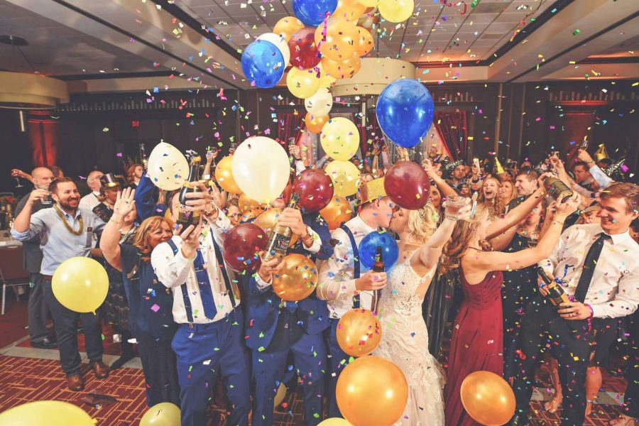 Wedding reception fun on New Year's Eve | SB Photography and Design