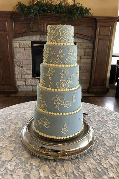 Simma's Floral Wedding Cake