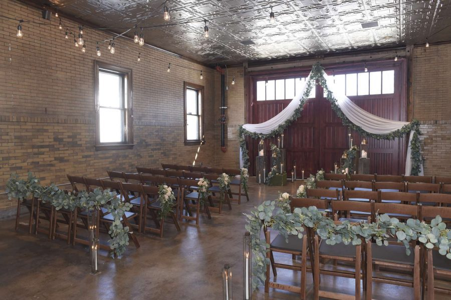 Story Hill Firehouse wedding ceremony set up