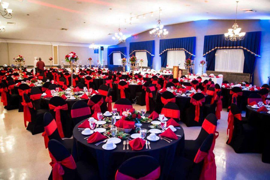 beautiful wedding reception at the Tripoli Shrine Center