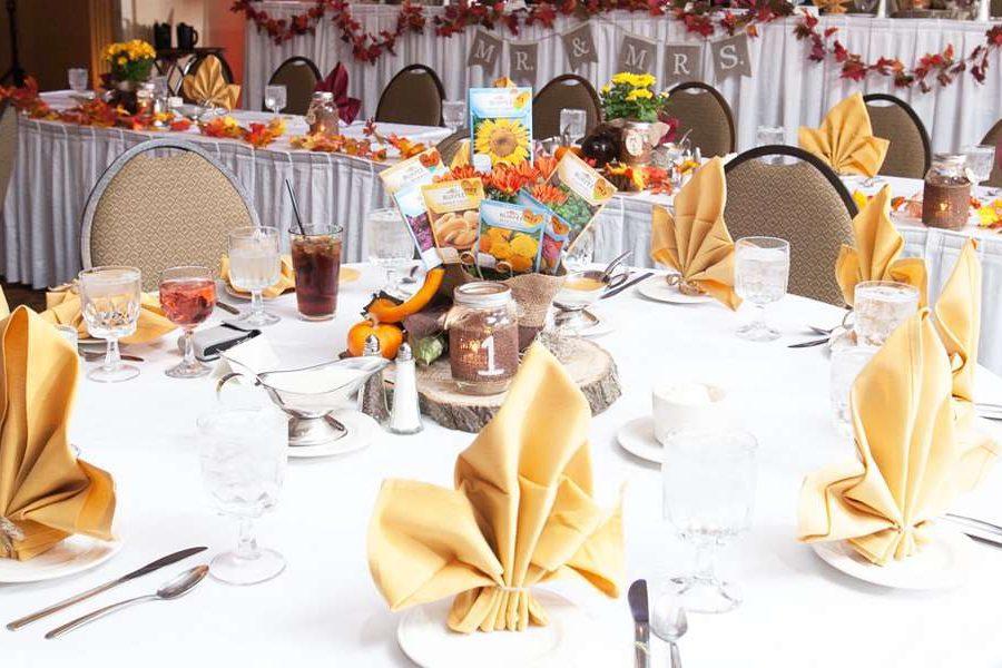 Fall Wedding reception table setting