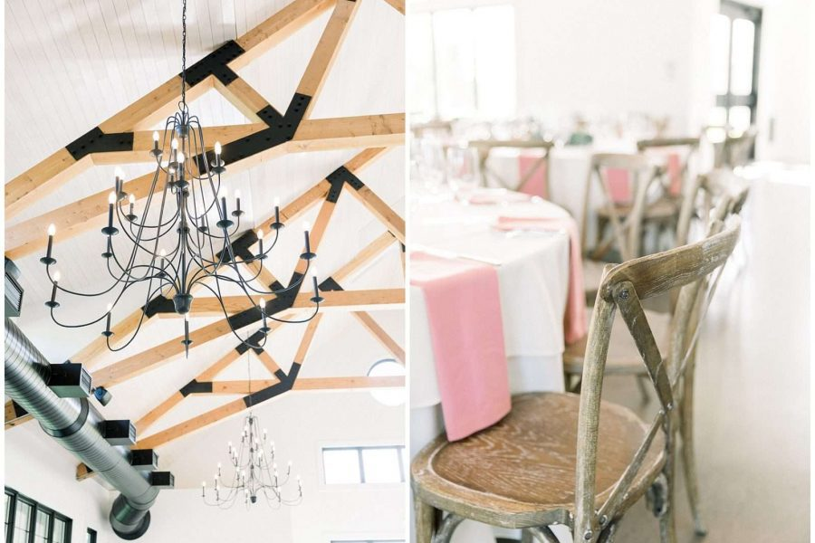 Light and airy details at the Carriage House , a new venue in Oconomowoc, WI