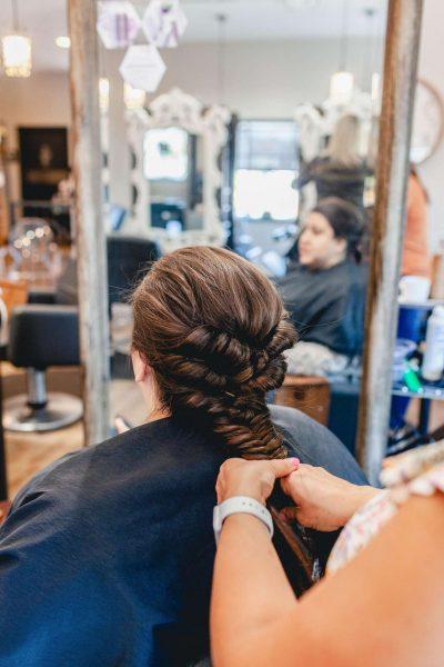 Beautiful stylized hair at Aqua Beauty Lounge