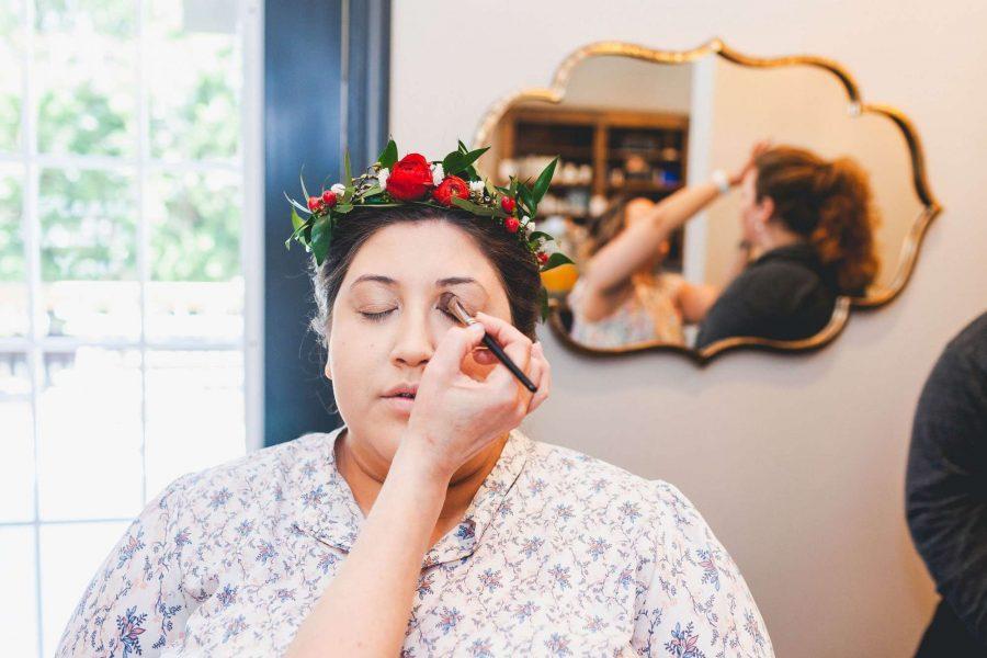 Bride having make-up applied at Aqua Beauty Lounge @ Med Spa