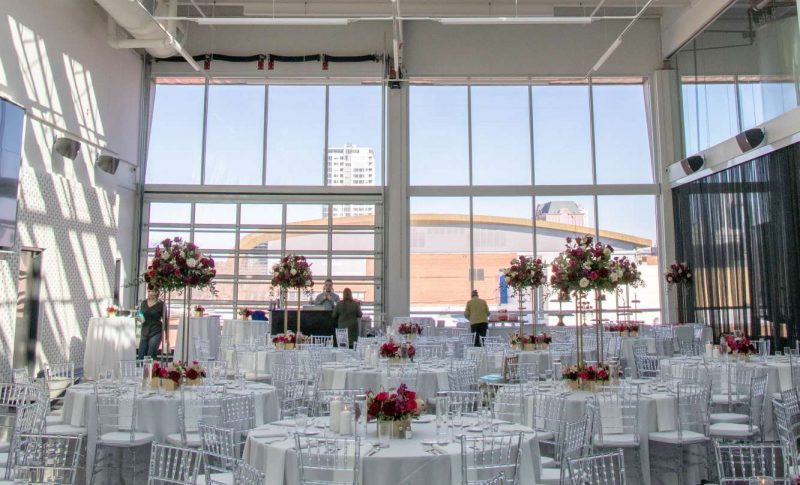 The Venue at Milwaukee Brewing Company set up for wedding