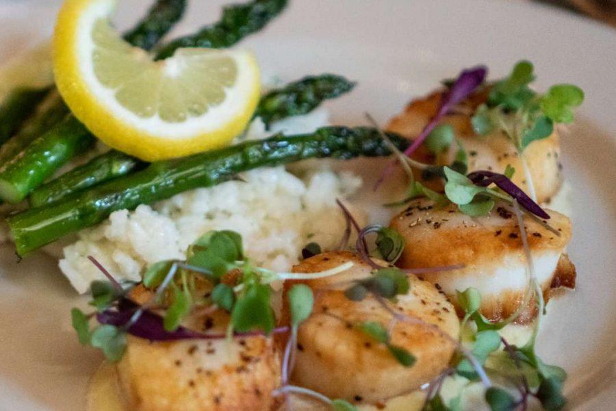 Timmer's Resort Cuisine of plated dinner