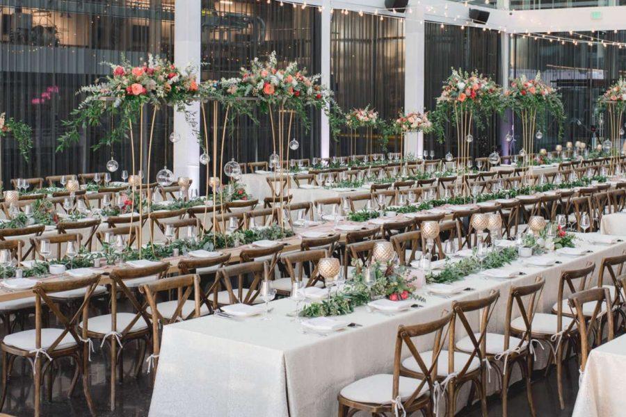 Elegant wedding celebration at Bottle House 42