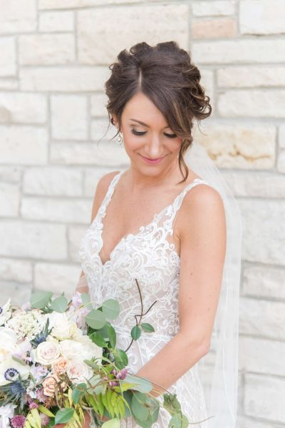 Beautiful bride with stunning up-do by Aqua Beauty Lounge