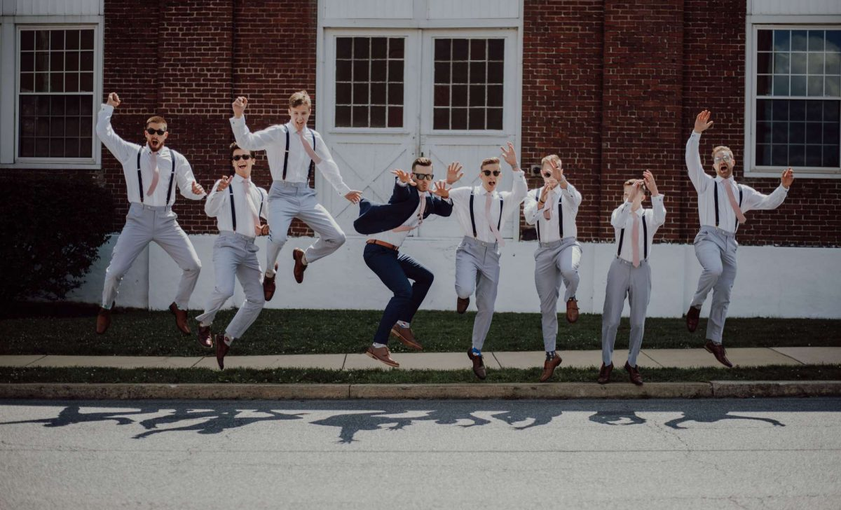 groom and groomsmen formal wear for wedding
