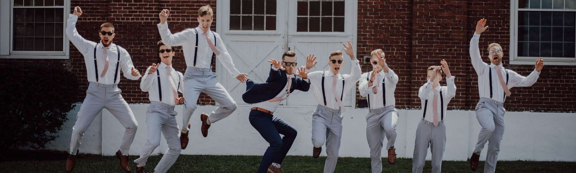 groom and groomsmen formal wear for wedding