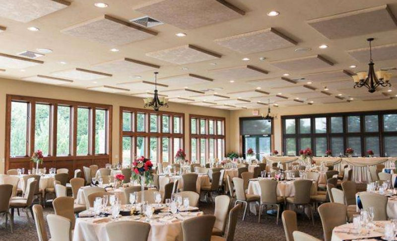 Wedding reception space at the Legend of Bristlecone