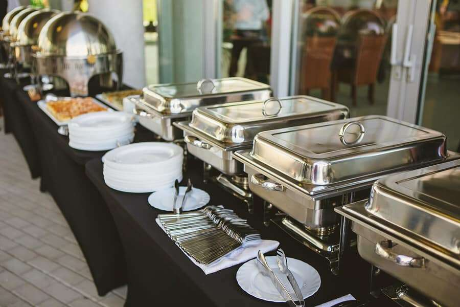 Cornerstone Catering wedding Buffet