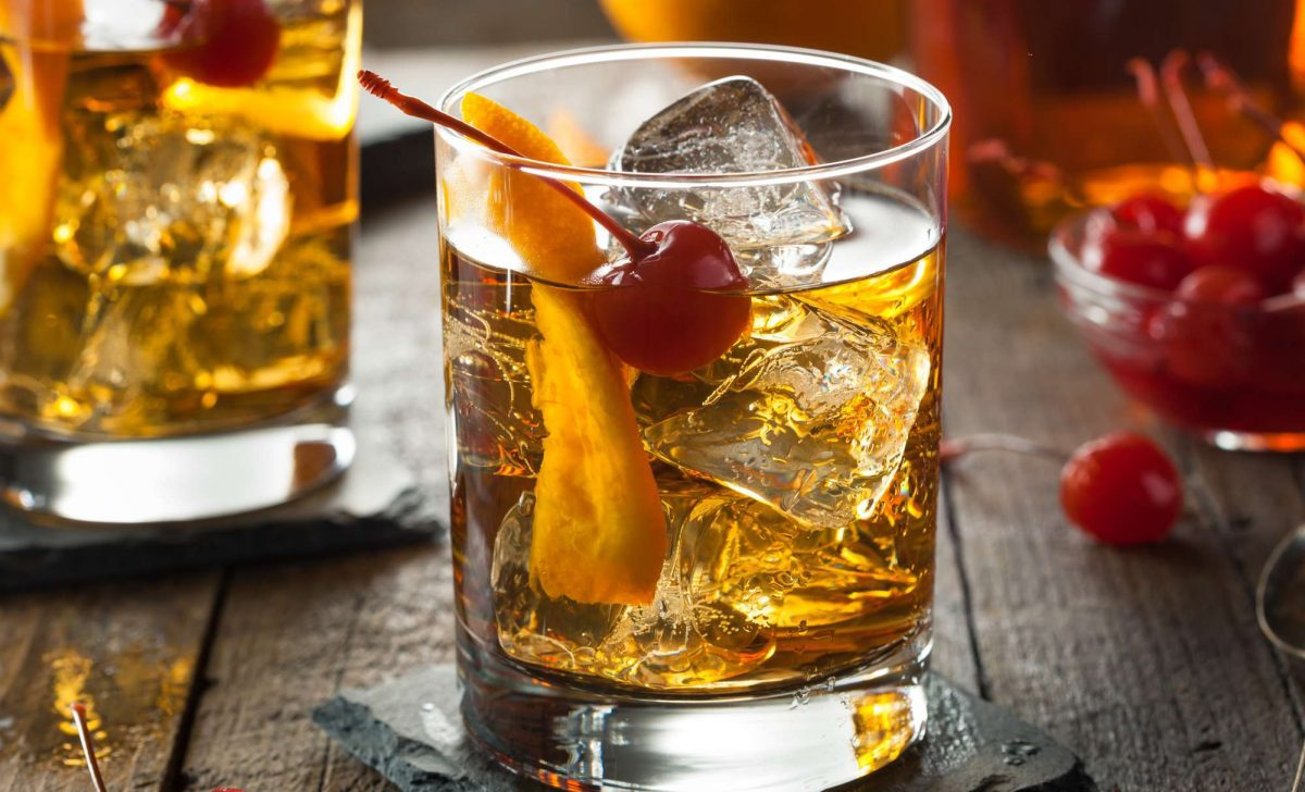 Wisconsin signature brandy old fashioned passed tray wedding drink