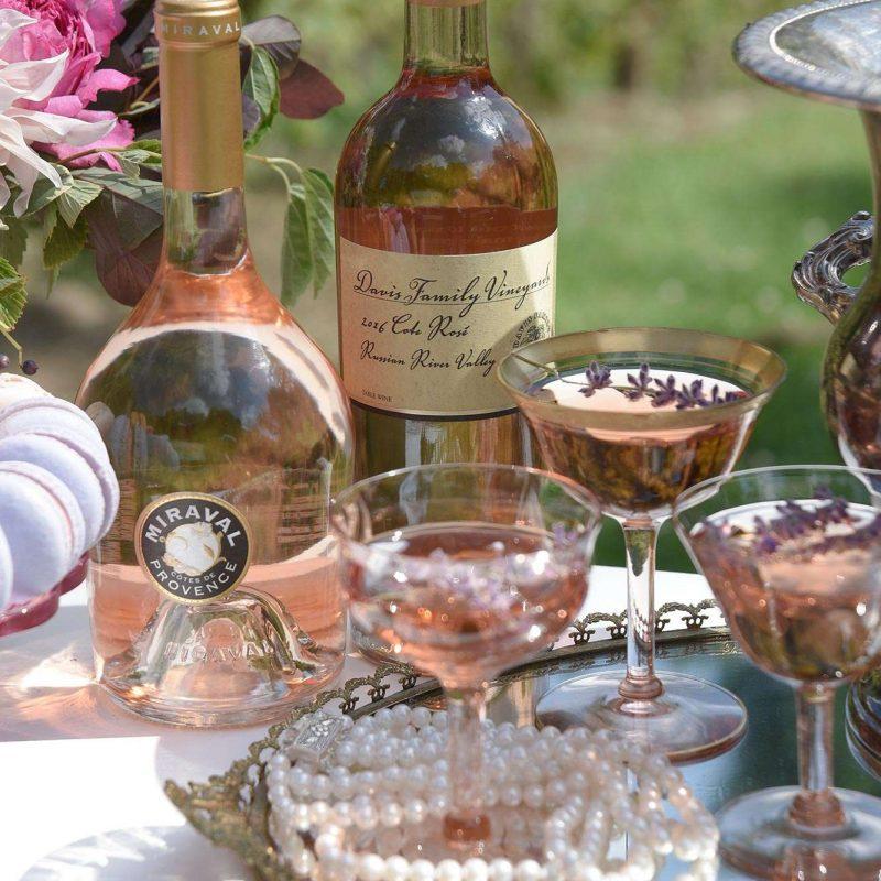 Wedding signature drink with garnish